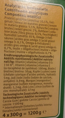 ASCO Terrine adult 4 x 300gr - Nutrition facts - fr