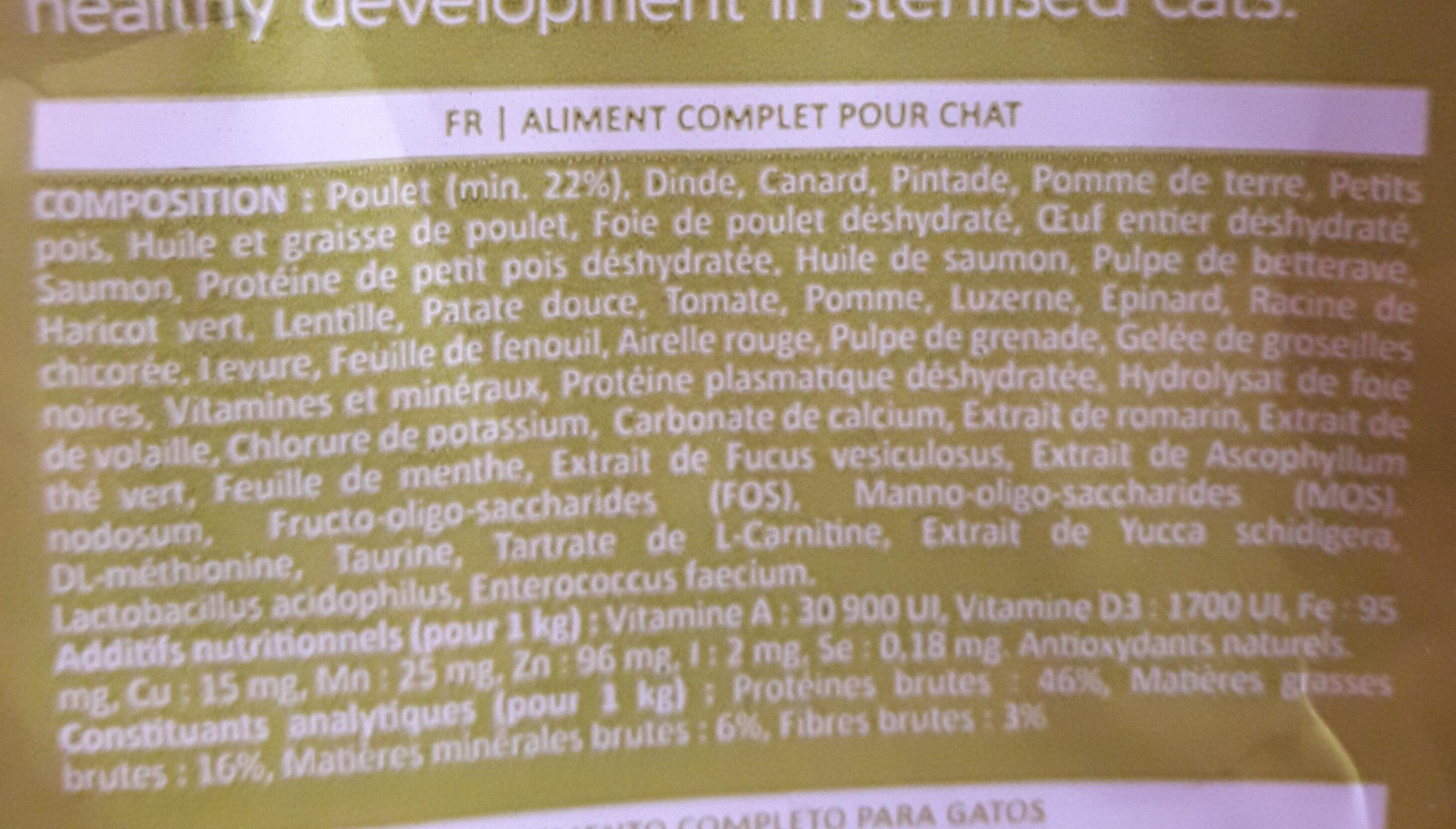 inne pet food - Ingredients
