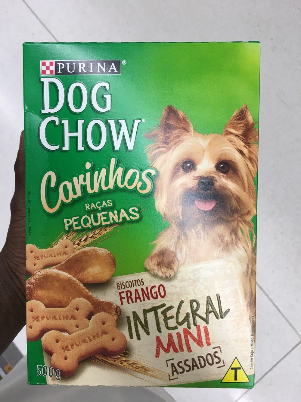 Alimento cão Dog chow 500g biscoito mini - Product