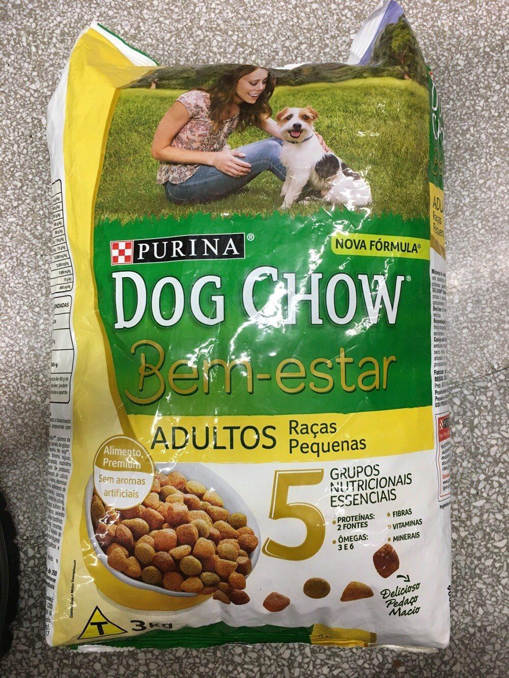 Alimento Dog chow 3kg Bem estar raças pequenas - Product