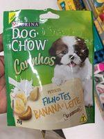 Alimento cão Dog chow carinhos 75g filhotes banana e leite - Product