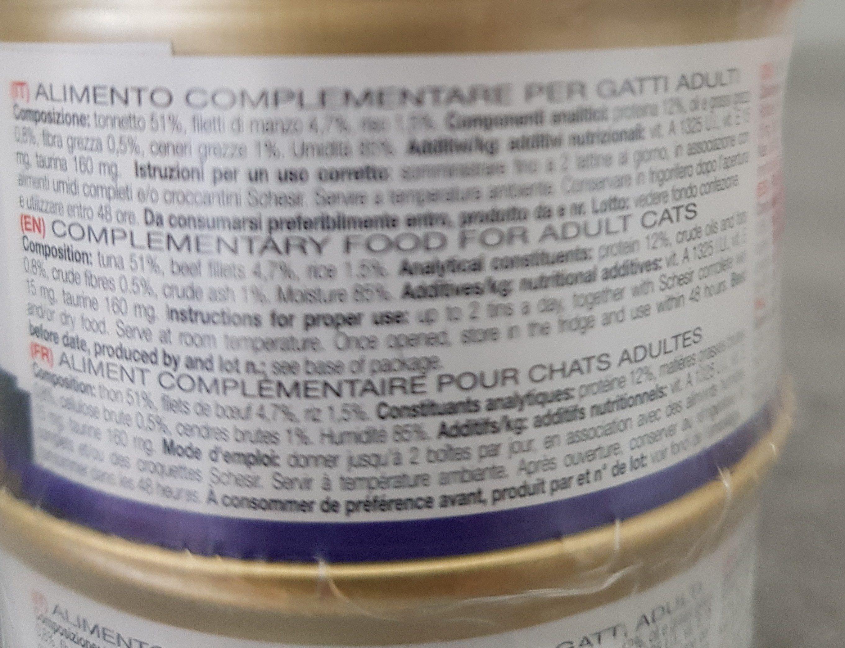 Schesir - Ingredients