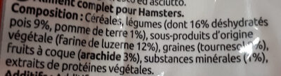 Aliment complet pour hamster - Ingredients - fr