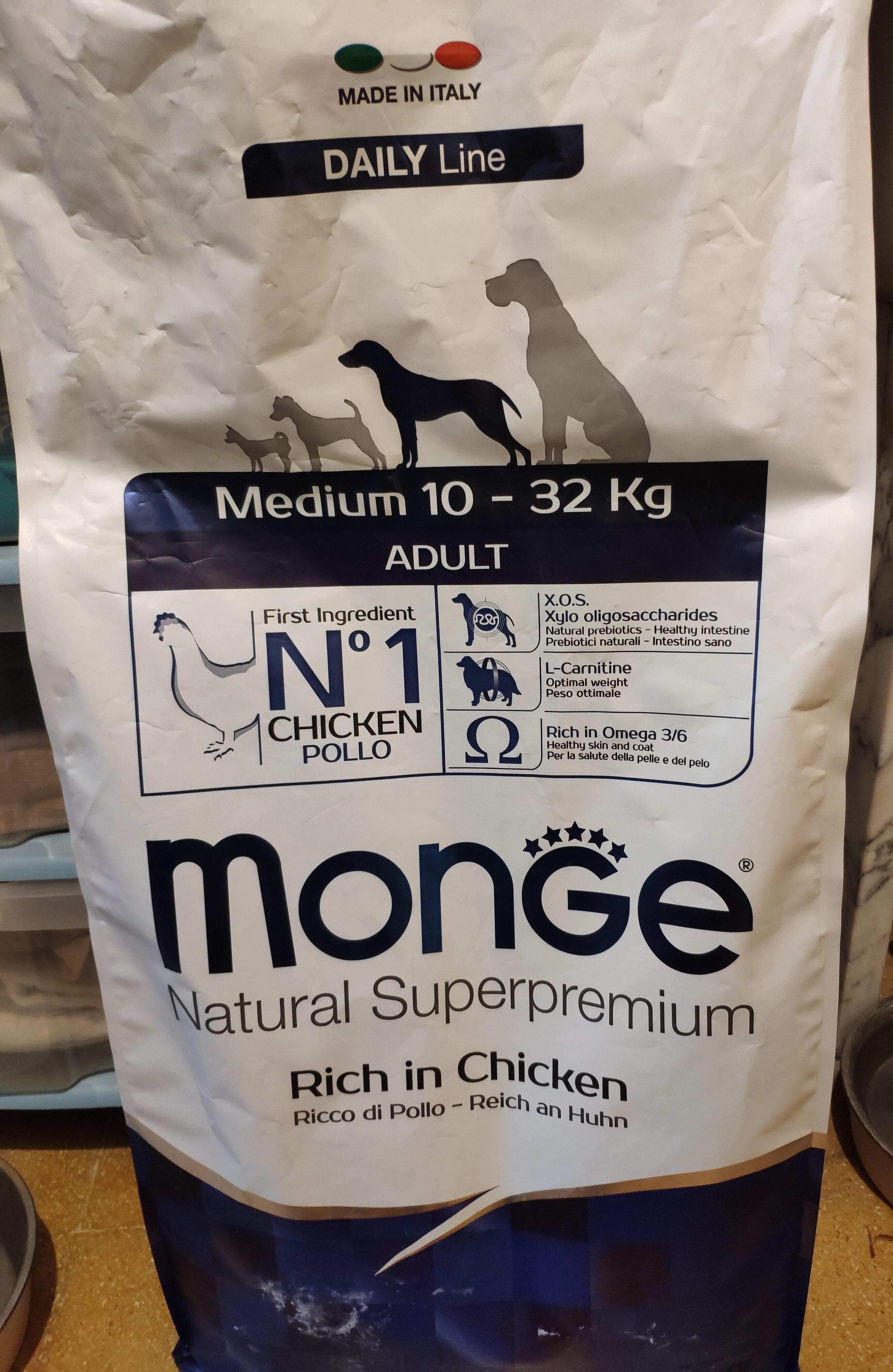 Monge Natural Superpremium Medium Adult Pollo - Product - it