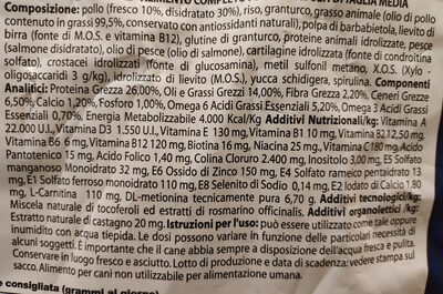 Monge Natural Superpremium Medium Adult Pollo - Ingredients - it