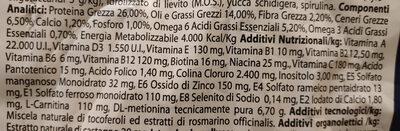 Monge Natural Superpremium Medium Adult Pollo - Nutrition facts - it
