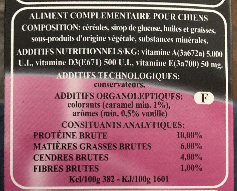 Rolls Rocky - Biscuits Naturels Micros Pour Chiens - 400G - Ingrédients