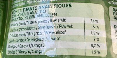 400G Appetit Difficile Ultima - Nutrition facts - fr