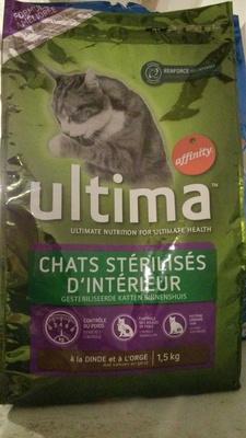 Ultima chats stérilisés d'intérieur - à la dinde et à l'orge - Product