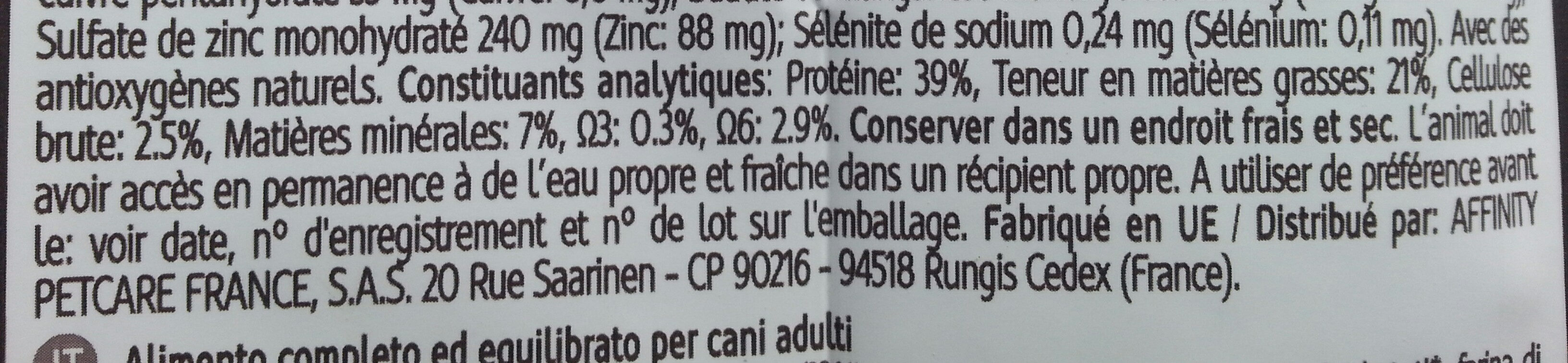 High Meat - Nutrition facts