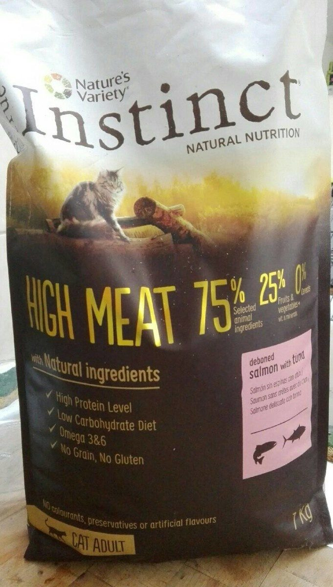 True INSTINCT Natural nutrition High Meat 75% - Product - fr