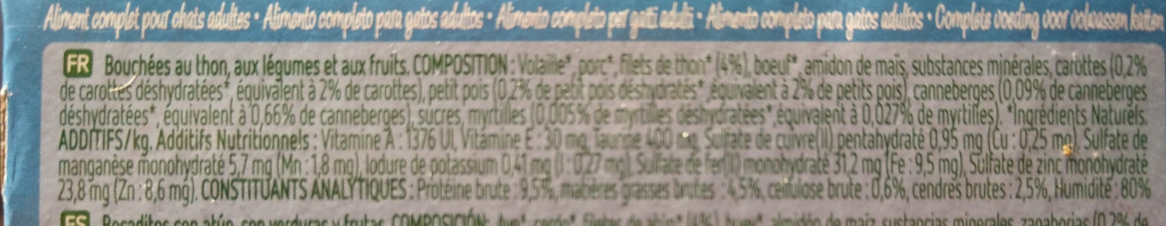 sachets 85g ultima nature - Ingredients - fr