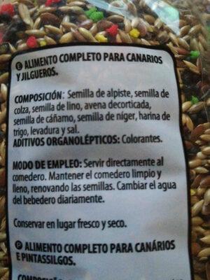 Comida para canarios - Ingredients - en