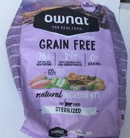 Ownat : Prime grain free cat food sterilized - Product - fr