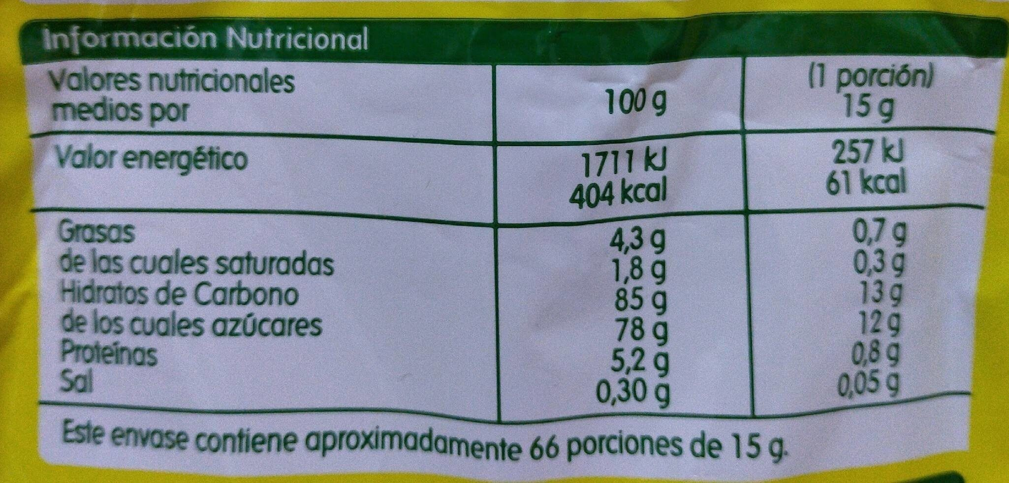 Cacao instantáneo - Nutrition facts - es