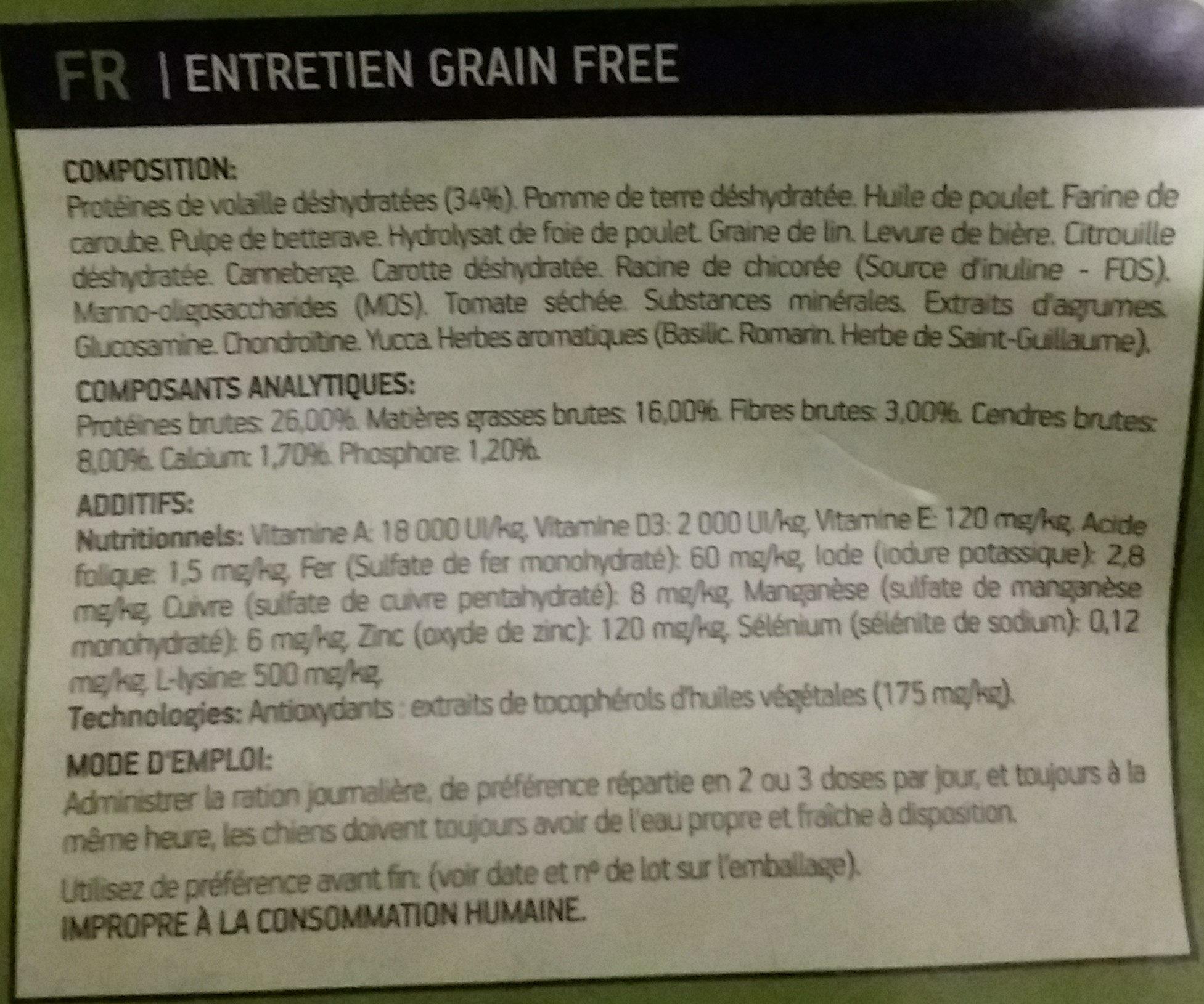 croquettes pour chien - Ingredients