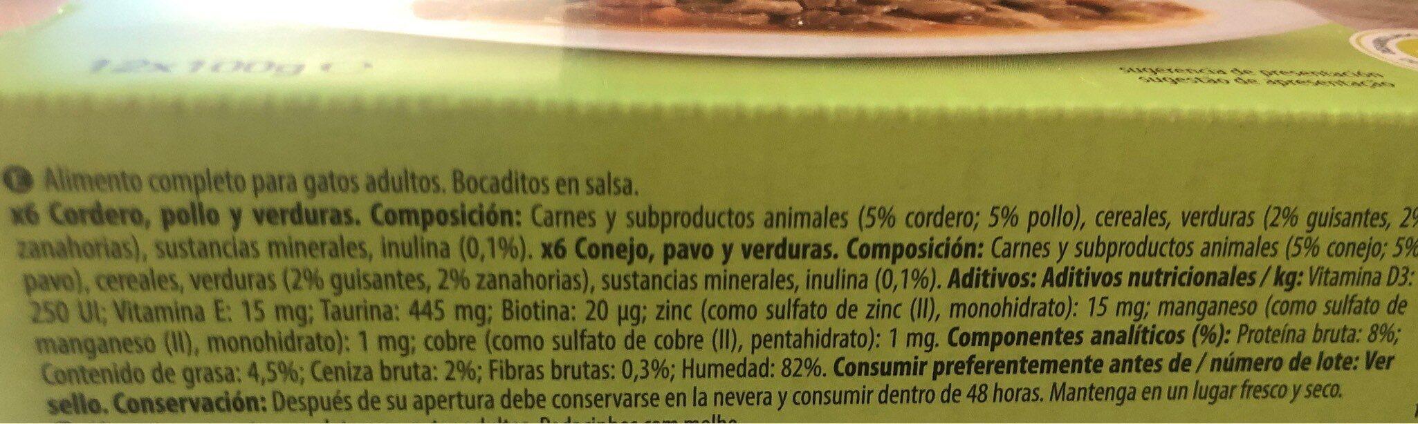En salsa - Nutrition facts - es