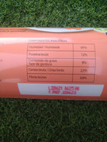 Salchicha con ternera y zanahoria - Nutrition facts - es