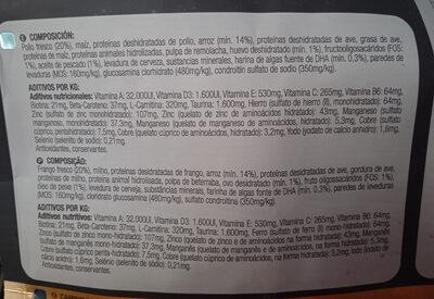 Júnior Pollo y Arroz - Ingredients - es