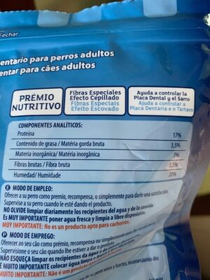 Cuidado de dientes y encías para perros - Nutrition facts - es