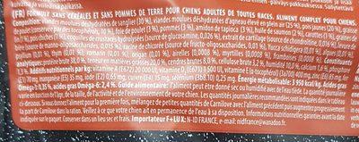Carnilove Adult Agneau Et Sanglier Pour Chien - Ingredients