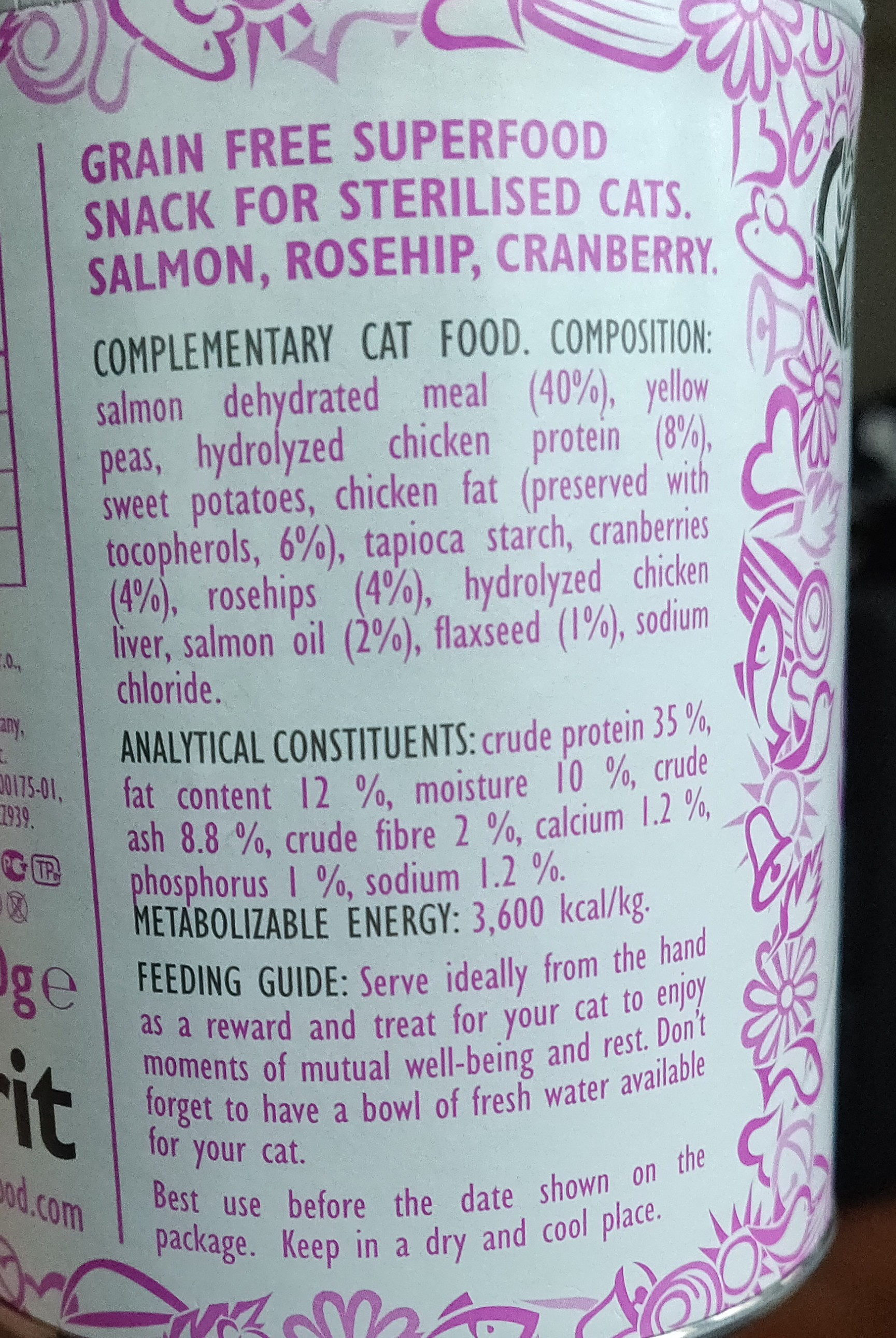 Brit Care Superfruits Salmon - Ingredients - fi