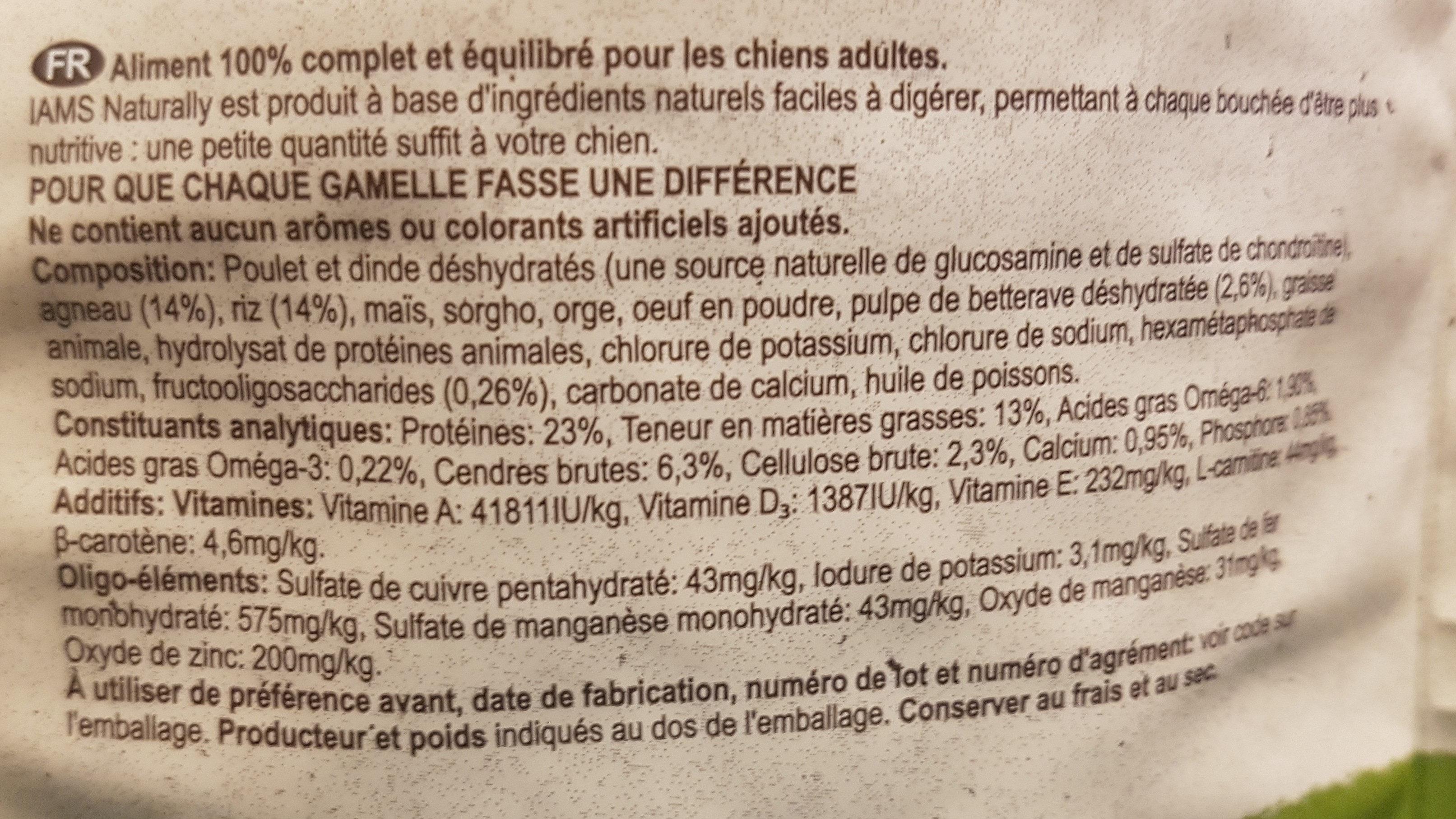 IAMS NATURALLY - Ingredients - en