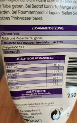 Malt Paste - Nutrition facts - en