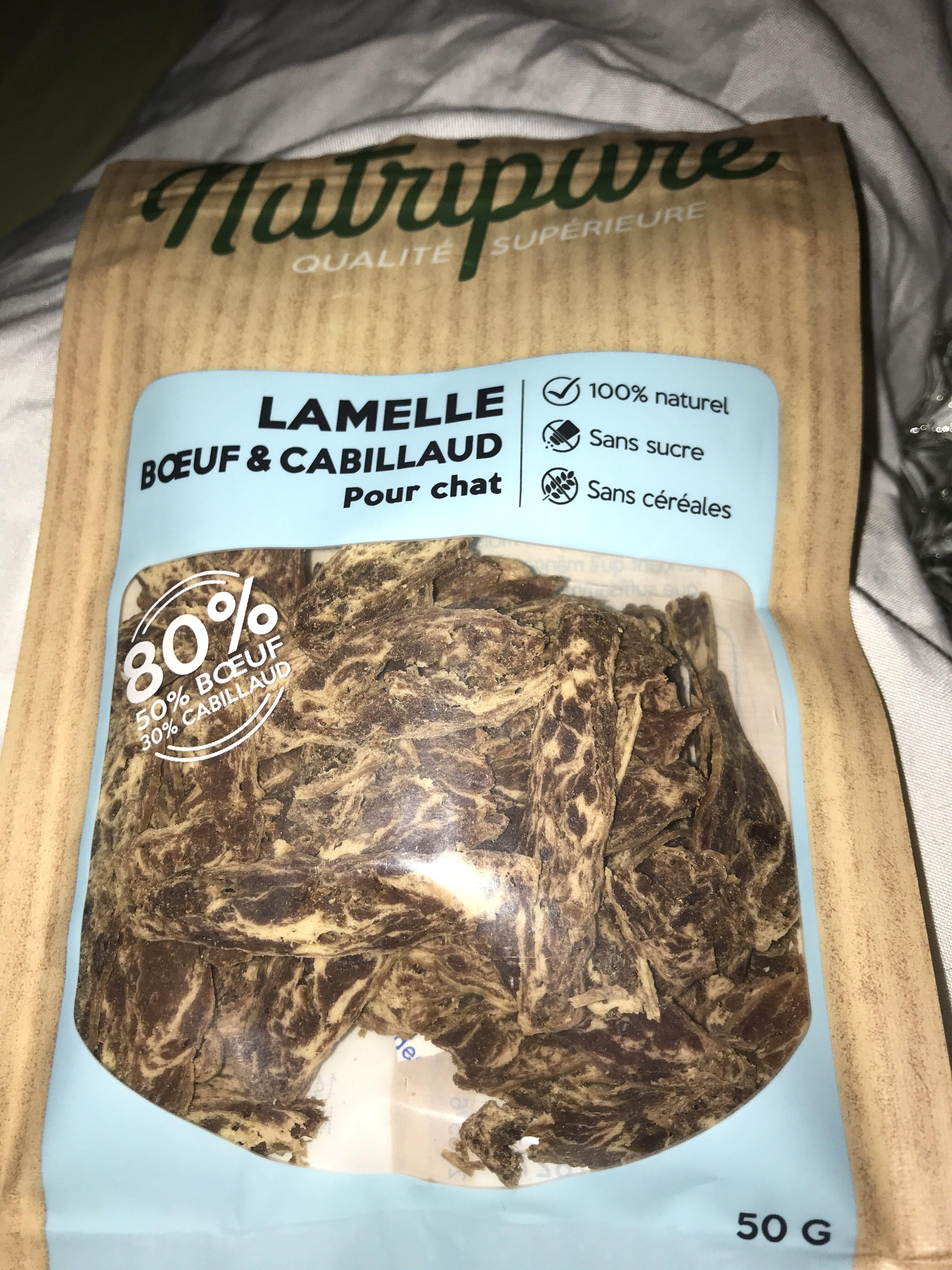 Lamelle bœuf & cabillaud - Product