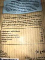 Lamelle bœuf & cabillaud - Nutrition facts