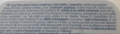 Aliments chats - Ingredients - fr