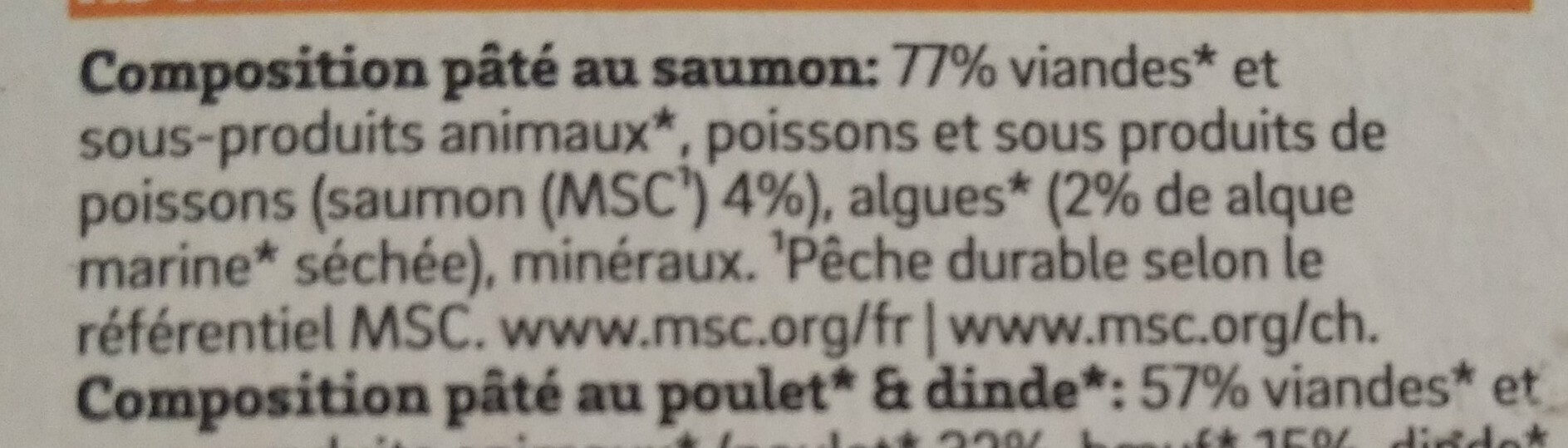 Patée Saumon Chat - Ingredients - fr