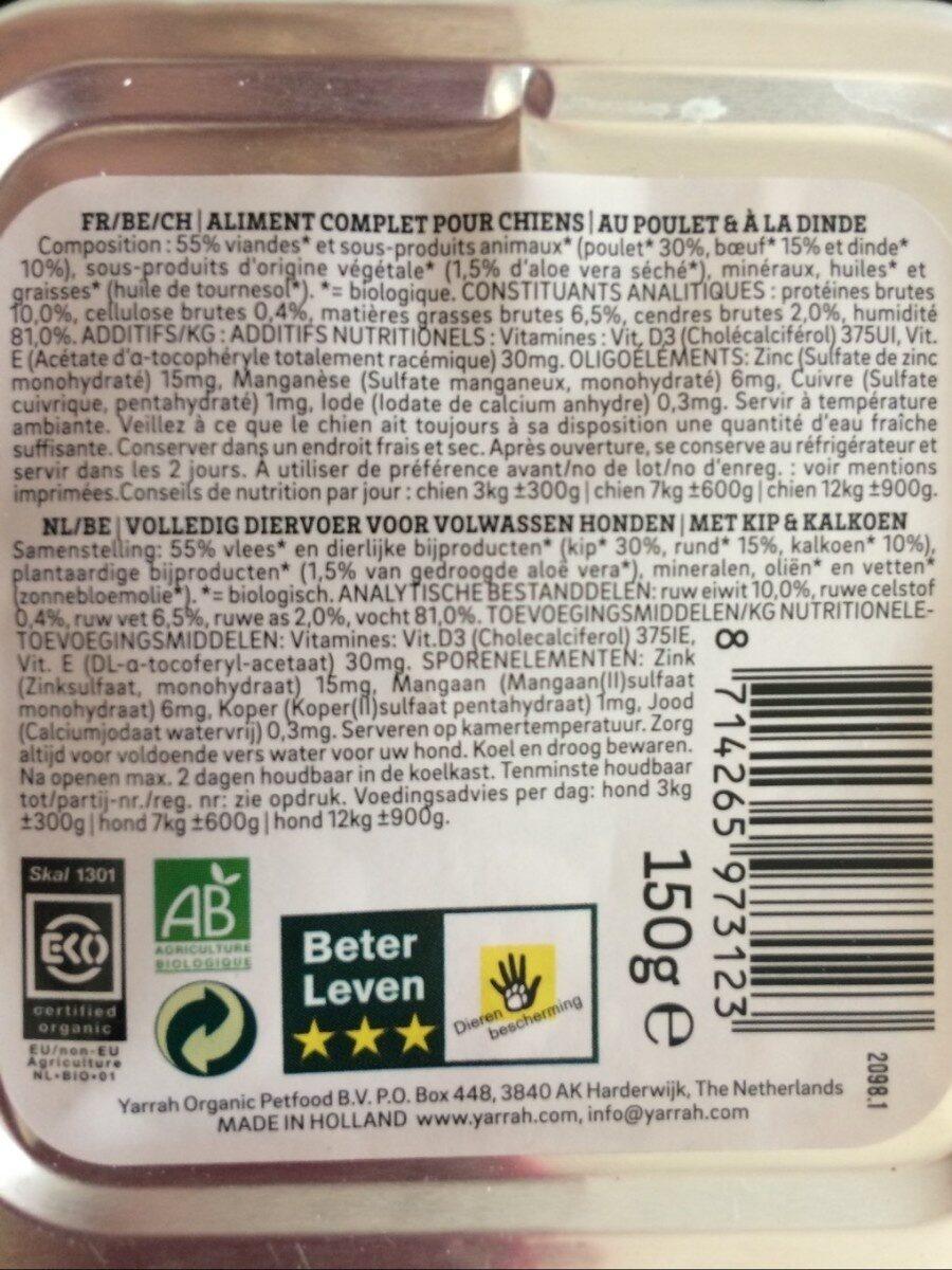 Epicerie / Nourriture Animaux / Nourriture Chien - Nutrition facts - fr