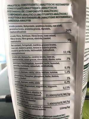 Croquettes Bio Poulet Pour Chien De Petite Taille - 2KG - Yarrah - Nutrition facts