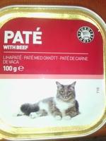 pate de carne de vaca para gato adultos - Product