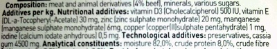 pate de carne de vaca para gato adultos - Ingredients - en