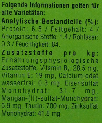 Bunte Vierfalt in Sauce - Nutrition facts - de