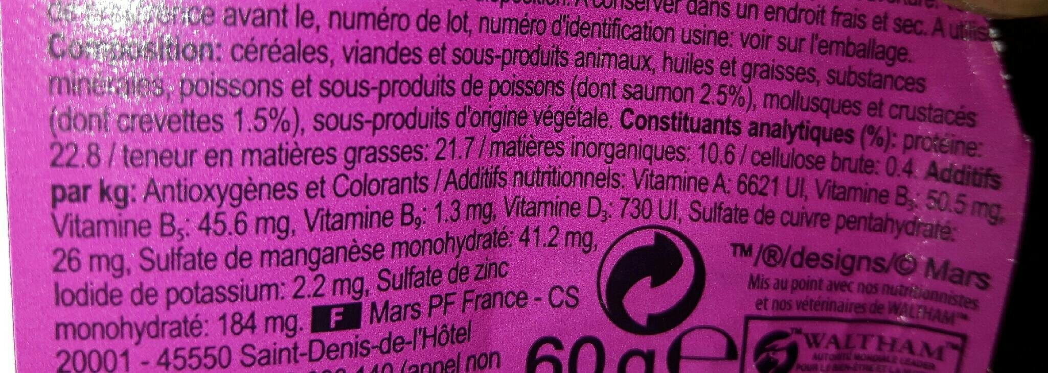 Zzwhiskas Irresist Sav De La Mer 60 - Nutrition facts